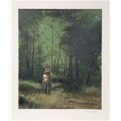 Adolf Sehring, Summer Woods, Lithograph