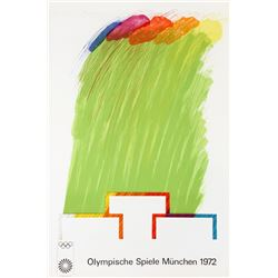 Richard Smith, Munich Olympics 1972, Lithograph with Collage