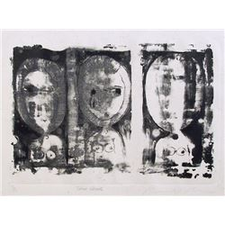 Ronald Jay Stein, Three Heads, Etching
