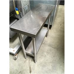 "12"" All S.S Equipment Stand / Worktable"