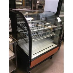 "True 36"" Curved Glass Bakery Display Case"