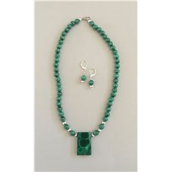 Yvette Franklin Malachite Necklace