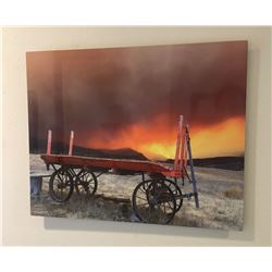 Stephen Edwards Fire Wagon - Photograph on metal