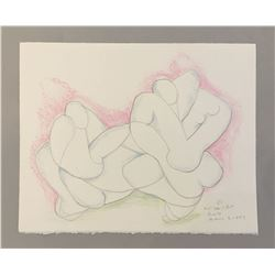 """""""Not Breakfast"""", signed lithograph by Beatrice Wood"""