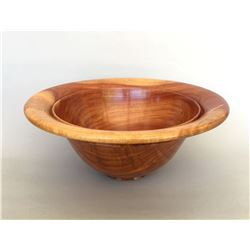 "Al Sils, ""Sunset"", Bowl in Carob wood"