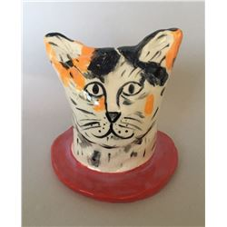 Linda Smith, Cat #9, Ceramic Sculpture