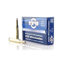 PPU 270WIN SP 130GR - 200 Rounds