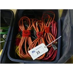TOTE OF EXTENSION CORDS