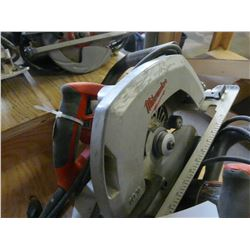 "MILWAUKEE 10 1/4"" ELECTRIC SKILL SAW WITH BLADES"