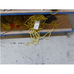 LOT OF AIR HOSE AND ROPE