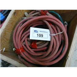 LOT OF AIR HOSE W/CART