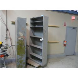 2 METAL SHELF UNITS