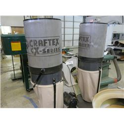 2014 CRAFTEX CX SERIES 402 3HP TWIN BAG DUST COLLECTOR