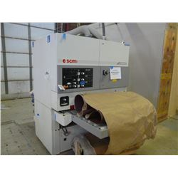 "2008 SCMI MODEL SANDYA 5S SN:AE/031748, 43"" 3 HEAD WIDE BELT SANDER WITH:"