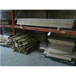 4 SECTIONS OF WOOD STOCK