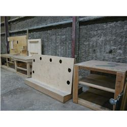 LOT OF WOOD BENCHES