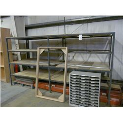 2 SECTIONS OF METAL RACK