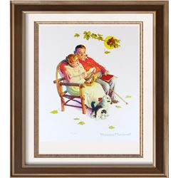 Norman Rockwell Vintage Plate Signed Lithograph Dealer Sale
