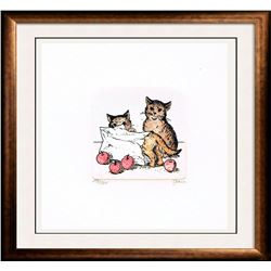 Original Colored Etching Cat Series Buy 3 Get Free Shipping!