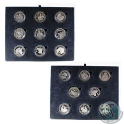 2006 Queen's 80th Birthday Silver Proof 17 Coin Collection issued by the Royal Mint with coins from