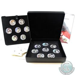2010 Canada $25 Vancouver Olympic Games Sterling Silver Hologram 15-coin Set (some capsules may have