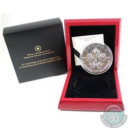 2013 Canada $50 Silver Maple Leaf 25th Anniversary 5oz Silver Coin (Tax Exempt). Packaging is lightl
