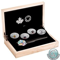 RCM Issue: 2015 Canada $20 Looney Tunes Classic Scenes 4-coin Fine Silver Set with Colourful Wrist W