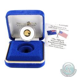 1996 Cook Island $10 Proof Gold National Park Foundation Wildlife Series coin(Tax Exempt)