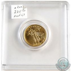 2003 USA Liberty Eagle $5 1/10oz .999 Gold Proof Coin (Tax Exempt). Coin weighs 3.393 grams and cont