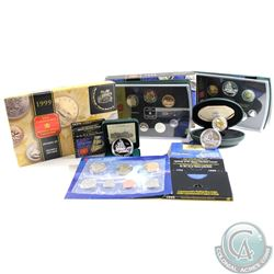 1999 Canada RCM Estate Lot. You will receive: 1999 Proof Like Set, 1999 Proof Dollar, 1999 Brilliant