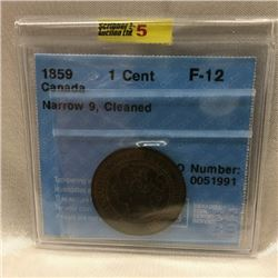 1859 Canadian One Cent