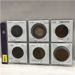Foreign Coins - Variety (6)