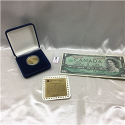 Canada $1 Bill & Proof Dollar (CHOICE of 2 Pairings)
