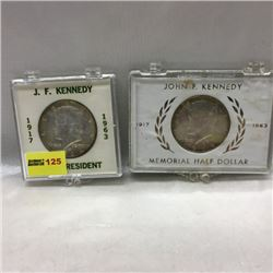 US Kennedy Memorial Half Dollars (2)
