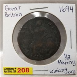 Great Britain 1/2 Penny William & Mary