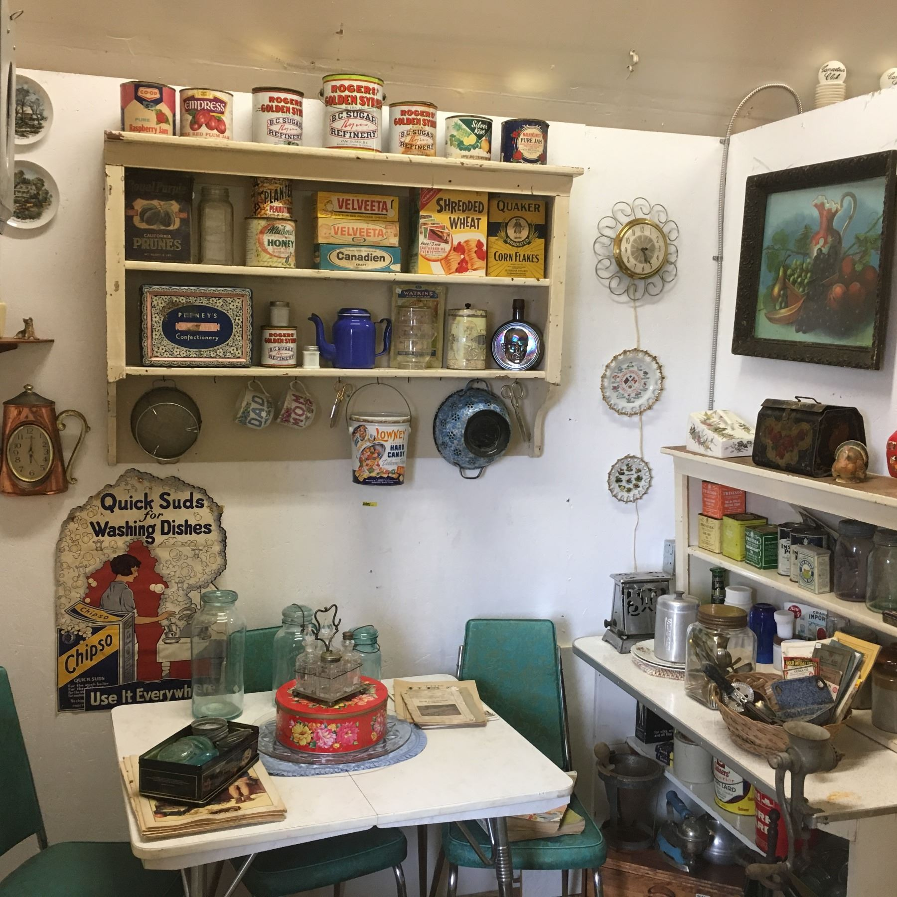 Retro Kitchen Room Display Table Chairs Tins More