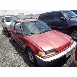 HONDA CIVIC 1989 T-DONATION