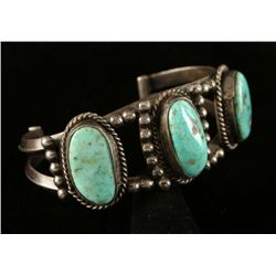 Old Pawn Sterling & Turquoise Bracelet