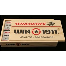 Winchester 1911 Crate with 45 Auto Ammo