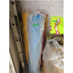 3 Large Rolls of Fabric - Blue, Yellow & Red