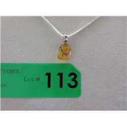 Orange Baltic Amber Necklace with Insect Inclusion