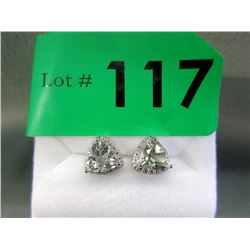 New Green Amethyst & Diamond Earrings