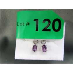 New Amethyst & Diamond Earrings