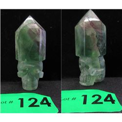 Fluorite Translucent Healing Point Gemstone Skull