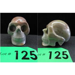 Succor Creek Jasper Carved Skull