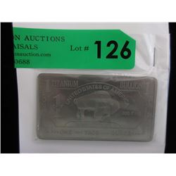 1 Oz. .999 Fine Titanium Buffalo Bar