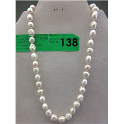 New Hand Knotted & Tied Freshwater Pearl Necklace