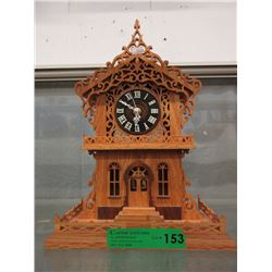 Carved Wood Pendulum Clock