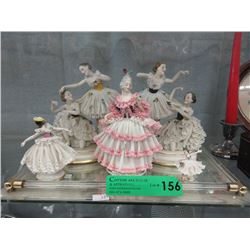 5 Vintage Porcelain & China Figurines