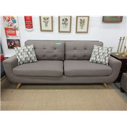 "New Retro Style 84"" Fabric Sofa"